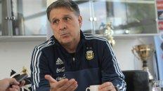 El Tata. Martino también dirigirá al equipo olímpico en Mendoza y Córdoba.