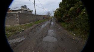 El auto del taxista fue hallado cerca del asentamiento conocido como La Tablita.