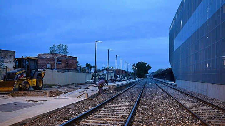 Estructura. Trabajos con hormigón ya se realizan en el ala norte de la estación de San Martín y Batlle y Ordóñez.