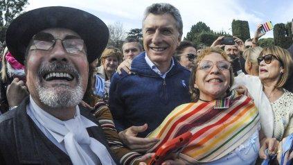 El presidente de la Nación, Mauricio Macri, festejó la Revolución de Mayo en la Quinta Olivos.