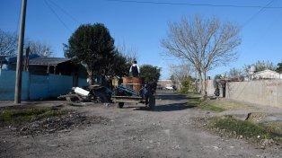 Pobreza. La zona donde apareció muerto Leonardo Villa, de 42 años.