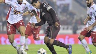 El goleador granate. José Sand explicó: Vamos a tratar de jugar bien, como siempre.