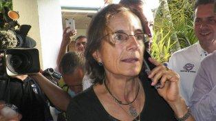 LIBRE. Salud Hernández habla con los medios, apenas liberada en la región del Catabumbo.