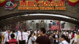 Espectacular. El ingreso a Ciudad Wanda, inaugurada ayer en Nanchang.