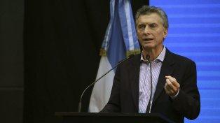 El presidente de la Nación, Mauricio Macri, destacó la importancia de una ley de blanqueo de capitales.