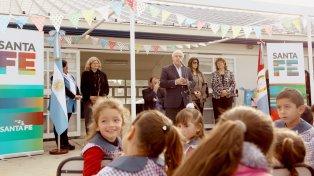 Tenemos la obligación de darle a todos nuestros niños las mejores oportunidades, dijo Lifschitz al inaugurar el jardín en Villa Ocampo.