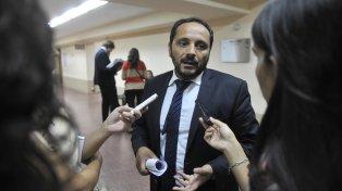 El fiscal. Adrián Spelta lleva adelante la acusación contra Marcelo Bassi.