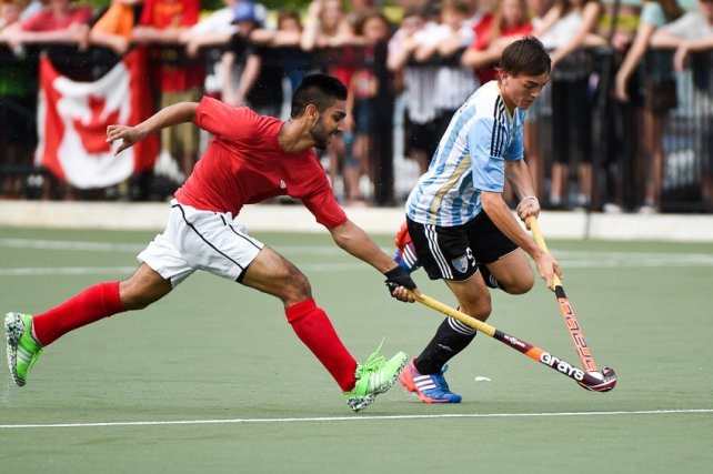 El delantero rosarino jugó el Panamericano de Toronto como titular.
