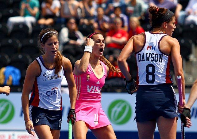 Carla Rebecchi marcó en tres oportunidades.