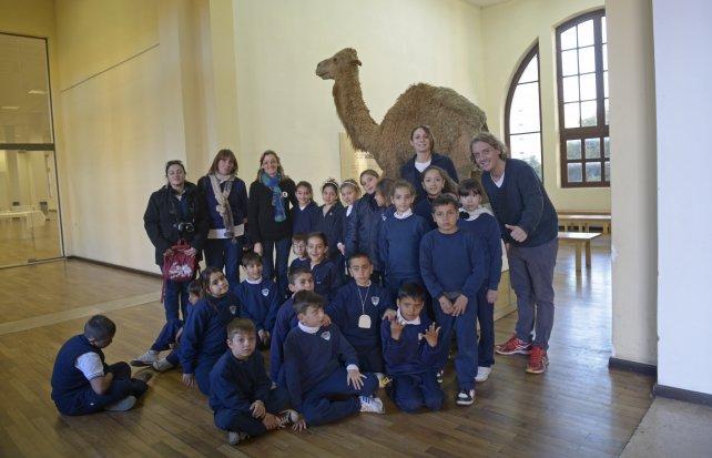 El grupo de 4º grado del Colegio Nuestra Señora del Perpetuo Socorro de Chañar Ladeado.