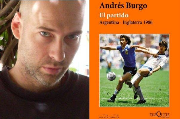 El autor Andrés Burgo y la portada del libro.