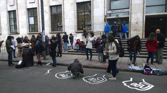 La manifestación por Mecha fue en Tribunales.