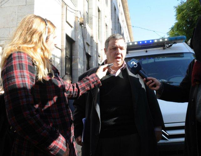 El abogado Marcelo Piercecchi, tras la indagatoria a Salomón.