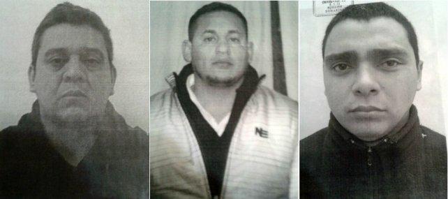 Juan Gutiérrez (40 años), Juan Cáceres (31) y Leandro San Juan (25), los tres evadidos.