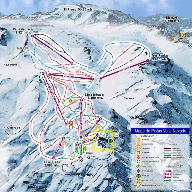 El centro de ski chileno tiene pistas para todos los gustos.