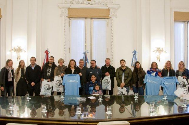 Deportistas rosarinos que integran la delegación argentina que viaja a Río de Janeiro.