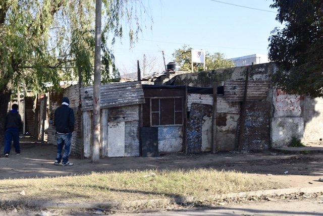 El lugar donde fue asesinado Fernández, en 17 de Octubre y Thompson.