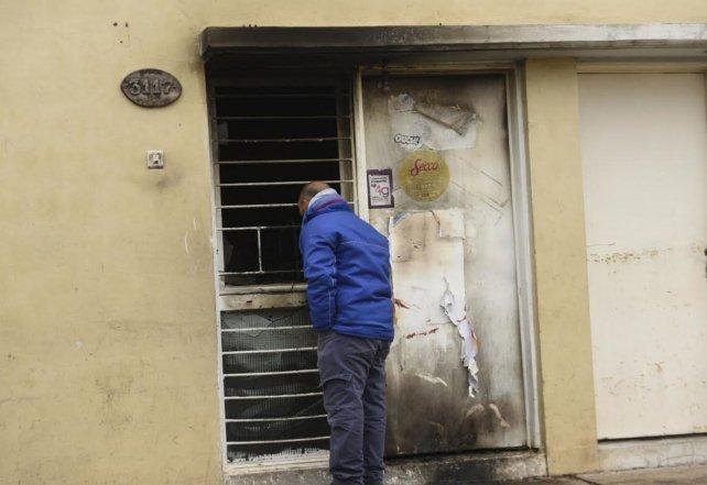 El incendio ocurrió en una vivienda de Bufano al 3100.