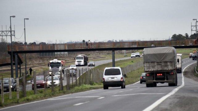 La autopista a Córdoba, esta mañana. La salida hacia Funes es una zona insegura.