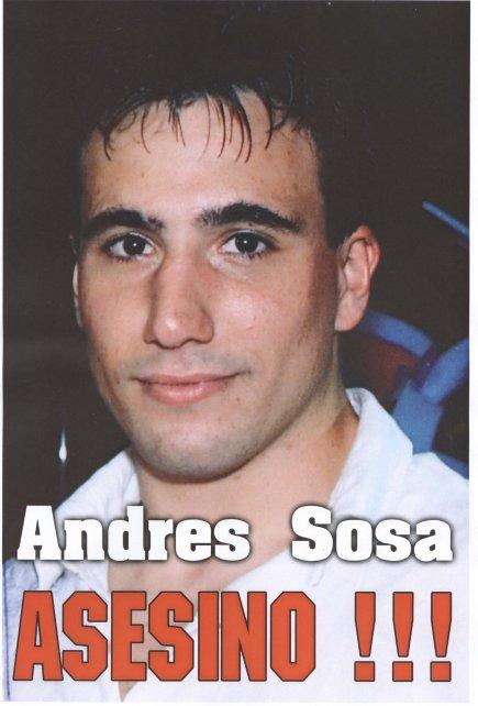 Andrés Soza, en la época en que fue juzgado por el asesinato de su novia.