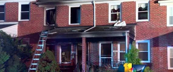La casa donde se produjo el incendio.