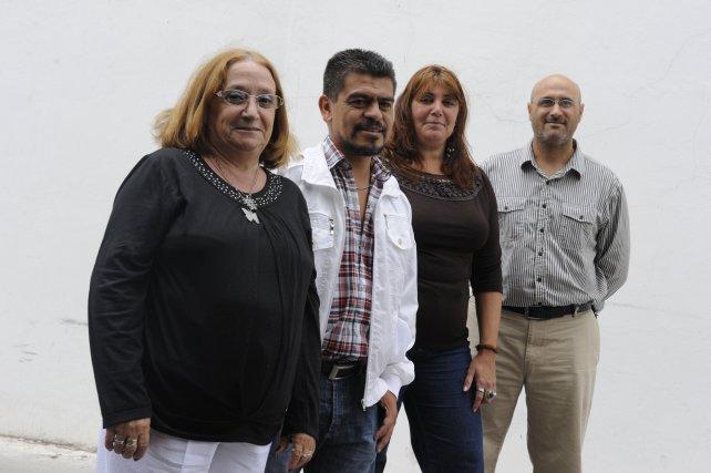 Beatriz González, Diego Oro, Claudia de Gottardi y Gastón Zencic.
