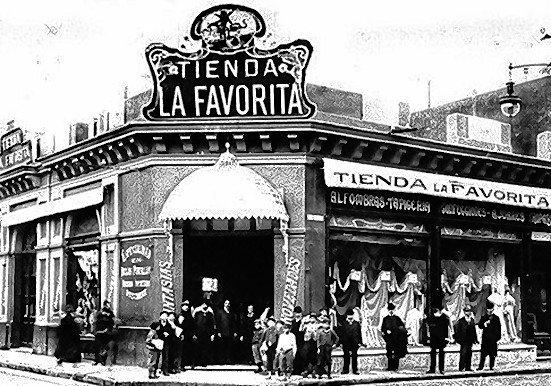 La famosa tienda La Favorita a principios del siglo XX.