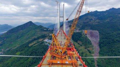 <div>El puente, bautizada como Beipanjiang, está situado a 565 metros de altura sobre un cañón al sur del país.&amp;nbsp;</div>