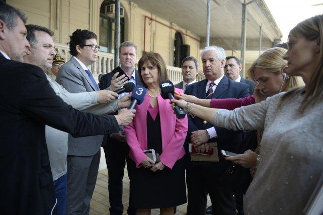 La ministra al salir ayer de la reunión en los Tribunales Federales.