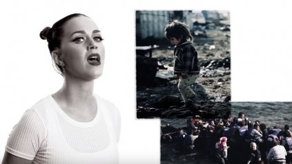 Katy Perry participa de la campaña que lanzó Unicef para concientizar sobre la tragedia de la guerra en el mundo.