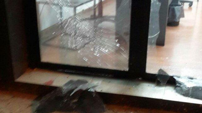 Parte de los daños causados por el explosivo.