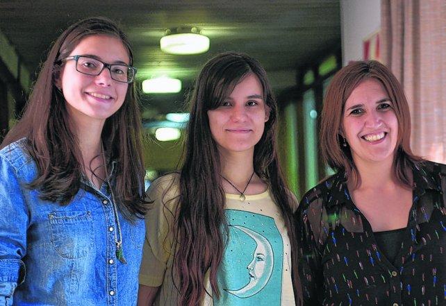 Las licenciadas en nutrición Valeria Cooper, Marianela Albuerne y Mariana Vidal.