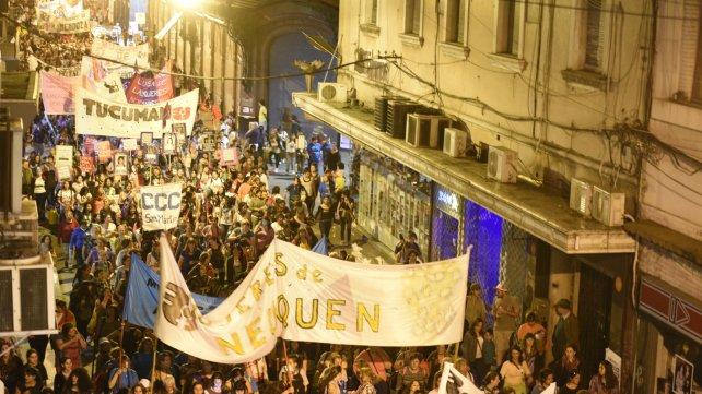 Las mujeres coparon las calles de Rosario.