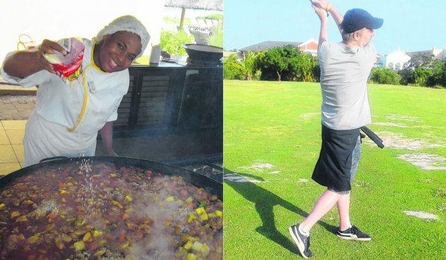 Moqueca, uno de los platos típicos de Bahía. Hasta los principales se animan con el golf.
