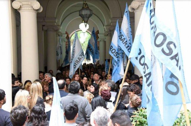 El Sindicato de Trabajadores Municipales se plegó a la medida de fuerza en contra de la violencia de género.