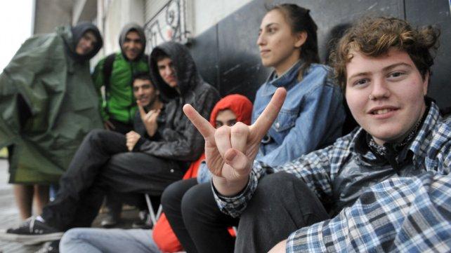 Los fans acampan a la espera del show.