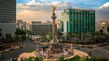 El Angel de la Independencia, uno de los símbolos de la ciudad.