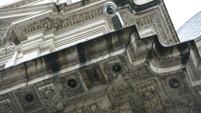 Córdoba al 1400. La zona donde se produjo el desprendimiento fue señalizada por precaución.