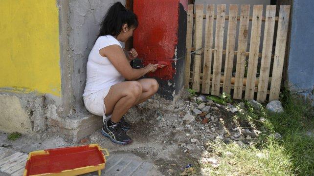 Los vecinos pintan La Lata como Caminito.