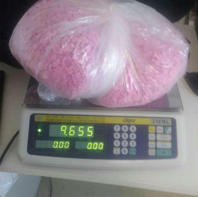 El cargamento pesó más de nueve kilos.