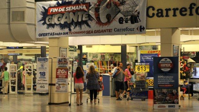 La sucursal de Carrefour de Pueyrredón y Córdoba.