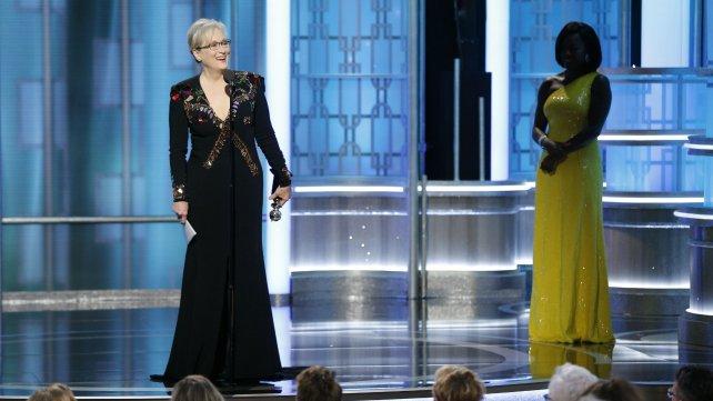 Meryl Streep dio un fuerte discurso en la gala.