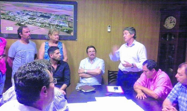 cónclave. Garibay, en Sanford, explicó los alcances de los proyectos.