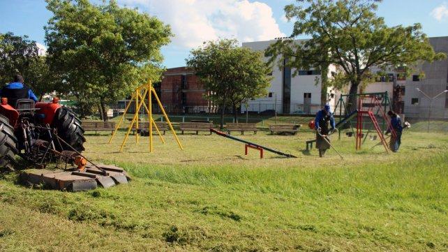 Mejoras en Parque Italia, barrio Tablada (Distrito Sur)