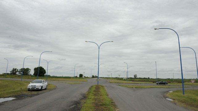 El acceso a la localidad de Puerto Gaboto. Según la falsa denuncia, el hecho ocurrió en esa jurisdicción.