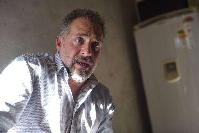 El abogado penalista Marcos Cella, quien fue detenido hoy en una causa por asesinato.