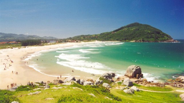 Las playas de Ferrugem, en Brasil.