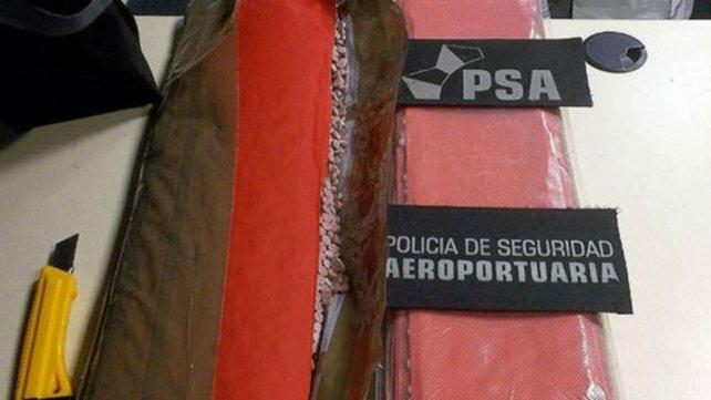 La droga incautada por la PSA.