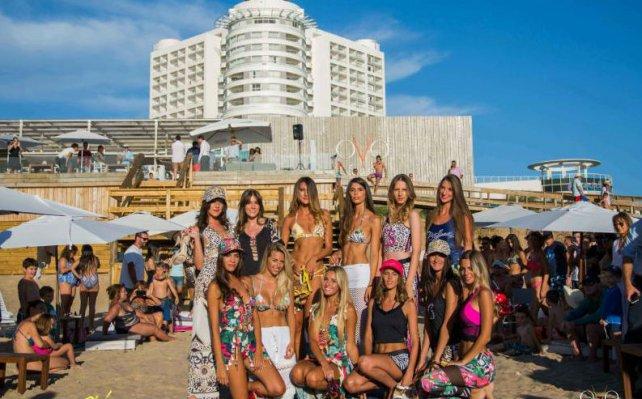 Las modelos rosarinas que participaron de la elección para ser la imagen del hotel uruguayo.