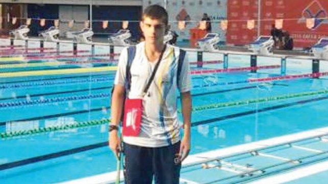 Franco Medina. Será el único nadador de la región en los Juegos de San Pablo.
